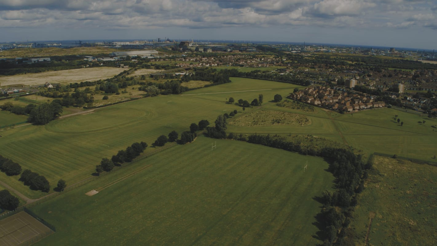 Aerial photograph of Eston Recreation Ground