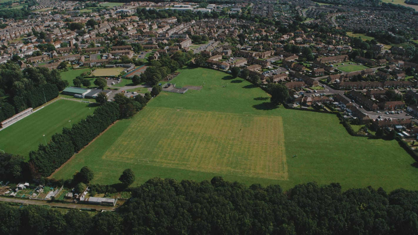 Aerial Photograph of King George V Playing Fields