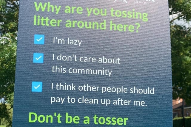 York Litter campaign poster